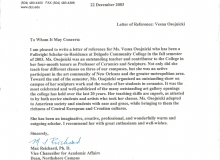 Max Reichard recommendation letter